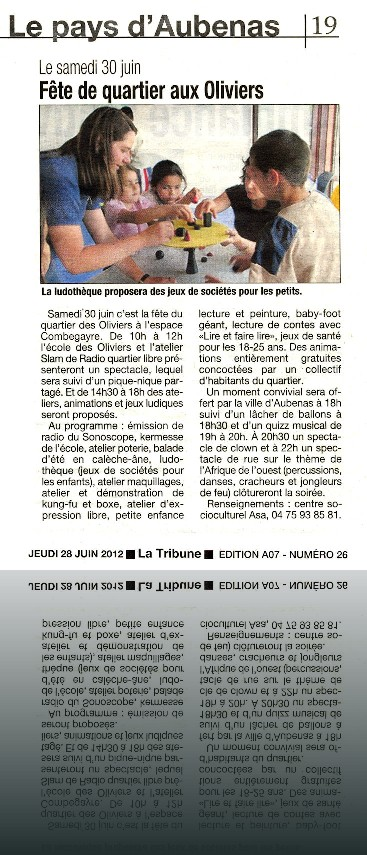 Article_Tribune_28-6-12_Fete_quartier