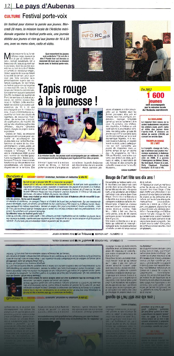article_Tribune_22-3-12_Porte-voix